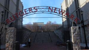 Ingången till campuset på Rutgers University i New Jersey.
