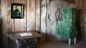 Martin Luthers rum på borgen Wartburg där han översatte bibeln till tyska