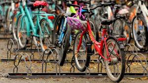 Parkerade cyklar