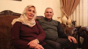 Fyrabarnsföräldrarna Bassim och Asma Dudeen ska bosätta sig i den planerade palestinska staden Rawabi.