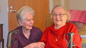 Anita Eckardt och Ethel Ahlbäck har varit vänner i snart 11 år.