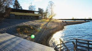 Stranden vid Sandö i Vasa.