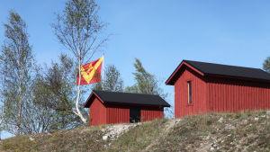 Bodar på Kalkholmen i Västanfjärd