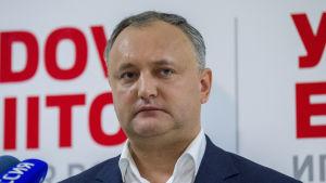 Igor Dodon, ledare för det moldaviska socialistpartiet.