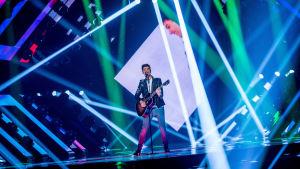 Anton Hagman, finalist i Melodifestivalen 2017.