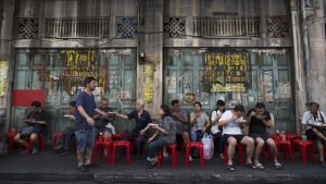 gatukök i Bangkok