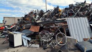 Metall på Domargårds avfallsstation
