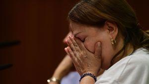 Mitzy Capriles man Antonio Ledezma fördes bort mitt i natten.