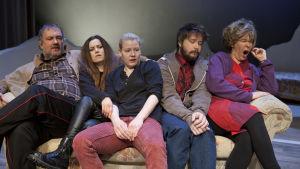Foto från Teater Mars uppsättning Receptet på lycka.
