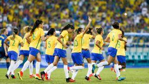 Marta firar mål, OS 2016.