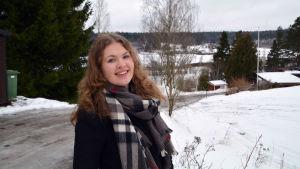 Nea Hjelt, kommunalvalskandidat för Samlingspartiet i Borgå
