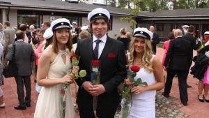 Ellinor Österåker, Tobias Klemets och Emma Ruuhinen.
