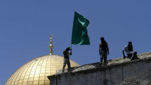 Hamasmedlemmar under festligheterna som avslutar Ramadan i juli 2015.