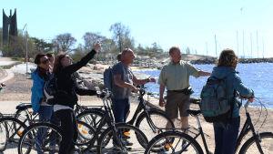 Turister på cykel