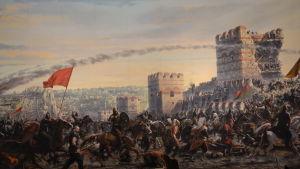Konstantinopoli 1453 kaupungin piiritys Panorama 1453 -museossa