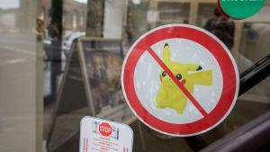 Pokemon Go-förbud