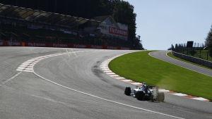Nico Rosberg i sin Mercedes på Spa.