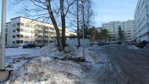 Höghus i Kvarnbäcken i Helsingfors