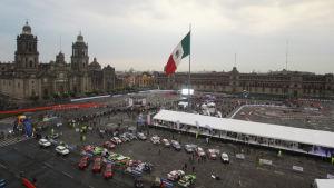 Rallybilar i Mexico City