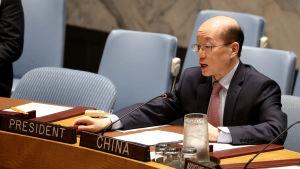 Kinas FN-ambassadör Liu Jieyi.