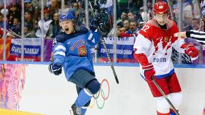 Mikael Granlund nätade mot Ryssland i kvartsfinalen i OS.