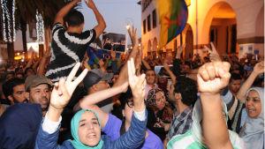 Protester i Rabat 30.10.2016.