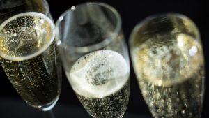 Några glas mousserande vin.