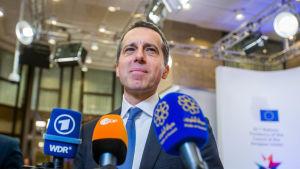Östrrikes förbundskansler Christian Kern på EU-toppmöte i Bryssel 10.3.2017
