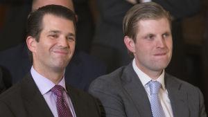 Donald Trumps söner Donald Trump Jr. (til vänster) och Eric.