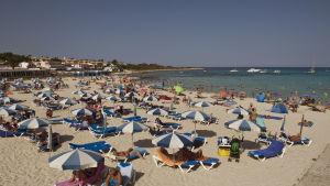 Strand på Menorca.