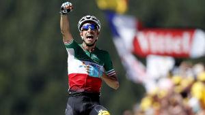 Fabio Aru vann den femte etappen av Tour de France.