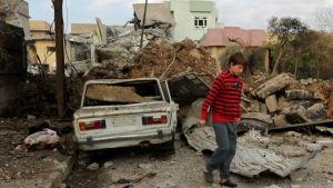 Den irakiska armén inledde en storoffensiv för att köra ut IS ur Mosul i oktober.