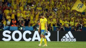 Zlatan Ibrahimovic lämnar planen