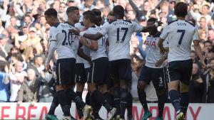Tottenham firar.