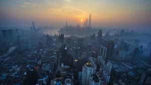 Utsikt över Shanghai.