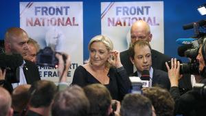 Nationella Fronten är segrare i det franska EU-valet.