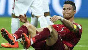 Ronaldo inte nöjd i fotbolls-vm 2014