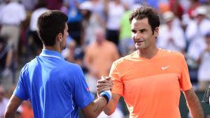 Novak Djokovic slog Roger Federer i Indian Wells.