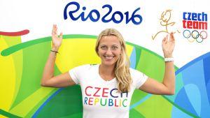 Petrá Kvitova i Rio de Janeiro i augusti 2016 för att tävla i OS.