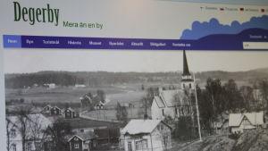 Degerbys nya hemsida degerby.fi.