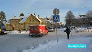 Korsningen Rådhusgatan-Pedersesplanaden i Jakobstad