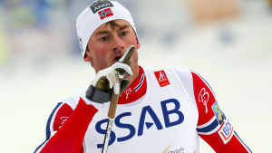 Petter Northug under 4x10 km i Falun 2015