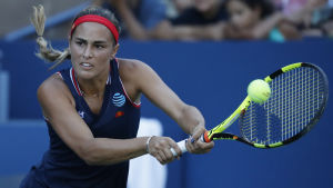Monica Puig i farten under US Open 2016.