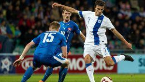 Roman Eremenko var en av Finlands bästa spelare mot Slovakien.