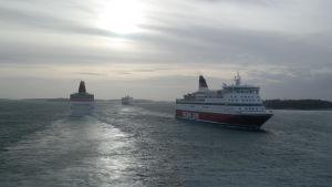 Passagerarfartyg utanför Mariehamn