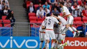 Mexiko firar ett mål i Confederations Cup.
