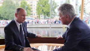 Putin och Niinistö i Nyslott.