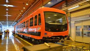 De nya metrotåget.