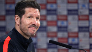 Diego Simeones Atletico Madrid spelar i Champions League-final.