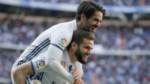 Isco och Nacho hoppas kunna fira ikväll på Santiago Bernabeu.